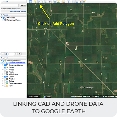 Linking CAD and Drone data to Google Earth