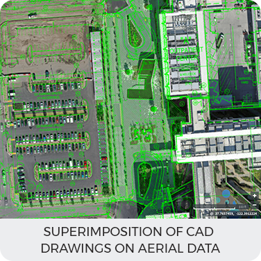 Superimposition of CAD Drawings on Aerial data